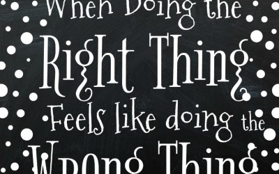 When Doing the Right Thing Feels Like the Wrong Thing