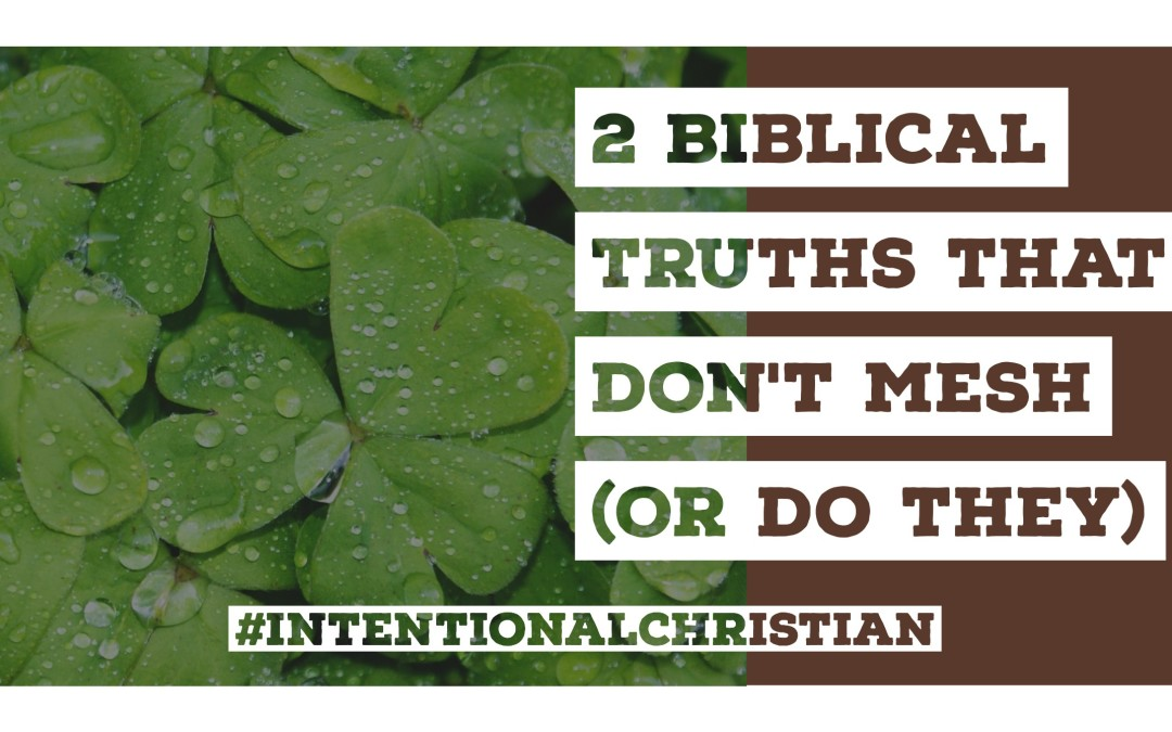 2 Biblical Truths That Don't Mesh (Or do they)